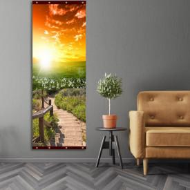 Rolap pe panza, Podul din lemn pe fundalul apusului de soare