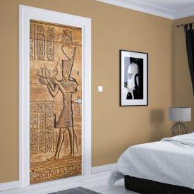 Stickere 3D pentru uși, Rune egiptene, 1 foaie de 80 x 200 cm