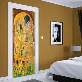 Stickere 3D pentru uși, Sărutul, 1 foaie de 80 x 200 cm