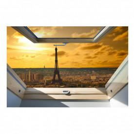 Stickere pentru pereți, Fereastra 3D cu vedere la Paris