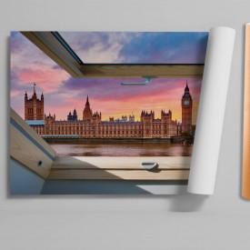 Stickere pentru pereți, Fereastra 3D cu vedere spre Londra