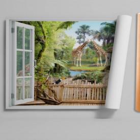 Stickere pentru pereți, Fereastra 3D cu vedere spre o rezervație naturală