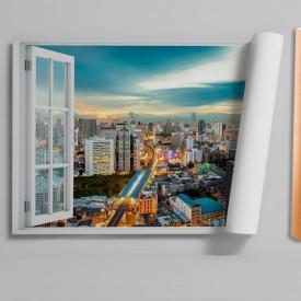 Stickere pentru pereți, Fereastra cu vedere spre un oraș iluminat