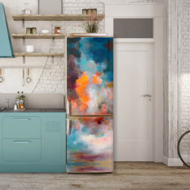Stickerele decorative, pentru uși, Explozia culorilor, 1 foaie de 80 x 200 cm