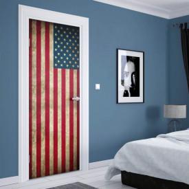 Stickerele decorative, pentru uși, Steagul SUA, 1 foaie de 80 x 200 cm