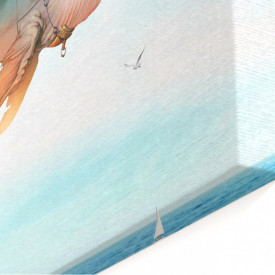 Tablou modular, Balena fantastică pe cer.