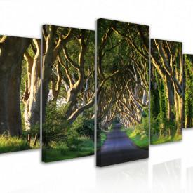 Tablou modular, Drumul din pădure