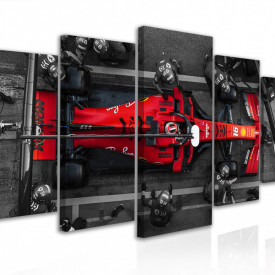 Tablou modular, Formula 1 roșie