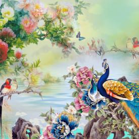 Tablou modular, Păun și alte păsări exotice