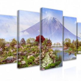 Tablou modular, Peisaj cu vulcan