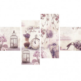 Tablou modular, Provence roz