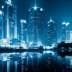 Tablou modular, Vedere de noapte la oraș