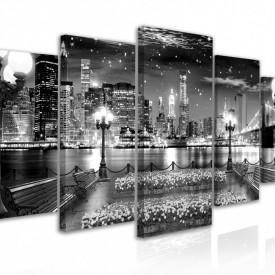 Tablou modular, Vedere nocturnă a coastei orașului