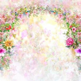 Fototapet, Arcada de flori