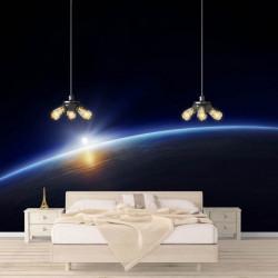 Fototapet Astronomie, Apus de soare în cosmos