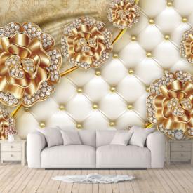 Fototapet, Broșe de aur pe un fundal texturat