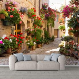 Fototapet Fresco, Alee cu flori