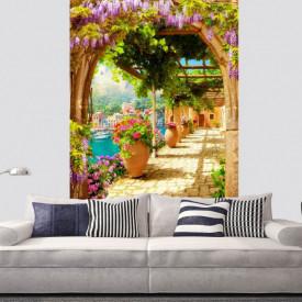 Fototapet Fresco, O plimbare prin balconul arcuit