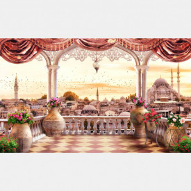 Fototapet Fresco, Romantismul roz