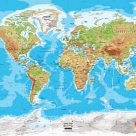 Fototapet, Harta fizică a lumii
