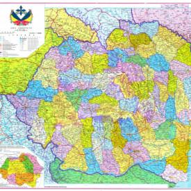 Fototapet, Harta politică în culori