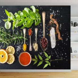 Fototapet, Ingrediente pentru o masă delicioasă