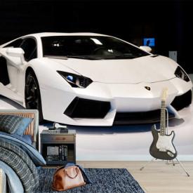 Fototapet, Lamborghini albi