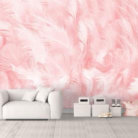 Fototapet, Pene de culoare roz
