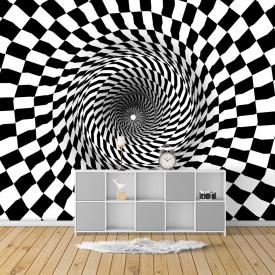 Fototapet, Tunelul geometric alb-negru