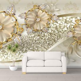 Fototapete 3D, Delicatețea florilor bej.