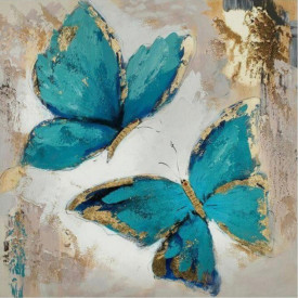 Poster, Fluturi albastri desenați