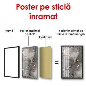 Poster, Fundal texturat de culoare auriu-gri