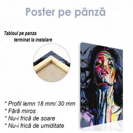 Poster, Portretul unei fete în vopsele cu ulei