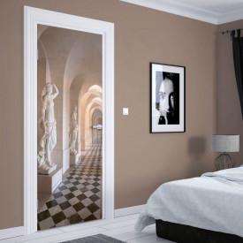 Stickere 3D pentru uși, Holul cu statui, 1 foaie de 80 x 200 cm