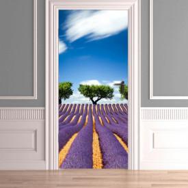 Stickerele decorative, pentru uși, Câmpia cu lavandă, 1 foaie de 80 x 200 cm