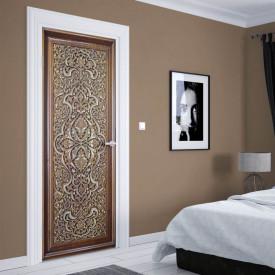 Stickerele decorative, pentru uși, Lada cu ornamente, 1 foaie de 80 x 200 cm