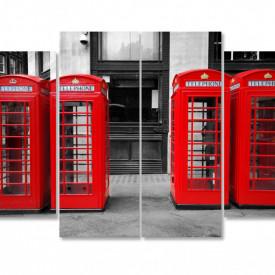Tablou modular, Cabinele telefonice roșii