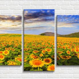 Tablou modular, Câmp cu flori de floarea-soarelui