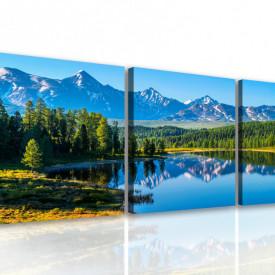 Tablou modular, Peisajul montan lângă lac