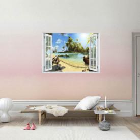 Fereastră falșă, Fereastră 3D cu vederea spre insula piraților