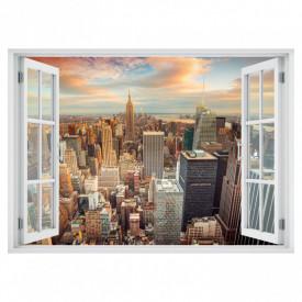 Fereastră falșă, Fereastră 3D cu vederea spre New York-ul de seară