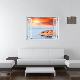 Fereastră falșă, Fereastră 3D cu vederea spre un oraș pe apă
