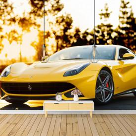 Fototapet, Ferrari galben