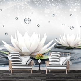 Fototapet, Flori de lotus pe apă