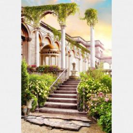 Fototapet Fresco, Fototapete cu coloane și o scară veche