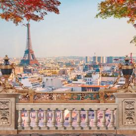 Fototapet Fresco, Toamna în Paris