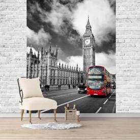 Fototapet, Londra și cerul înnorat