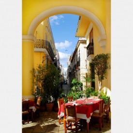 Fototapet Orase, Micul dejun în oraș