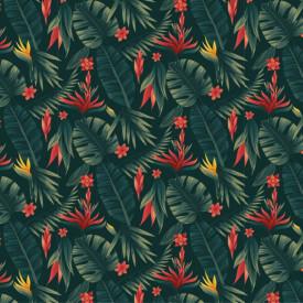 Fototapet, Ramuri verzi pe un fundal întunecat