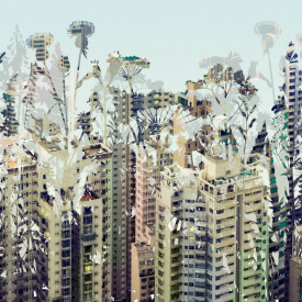 Fototapet, Un oraș abstract